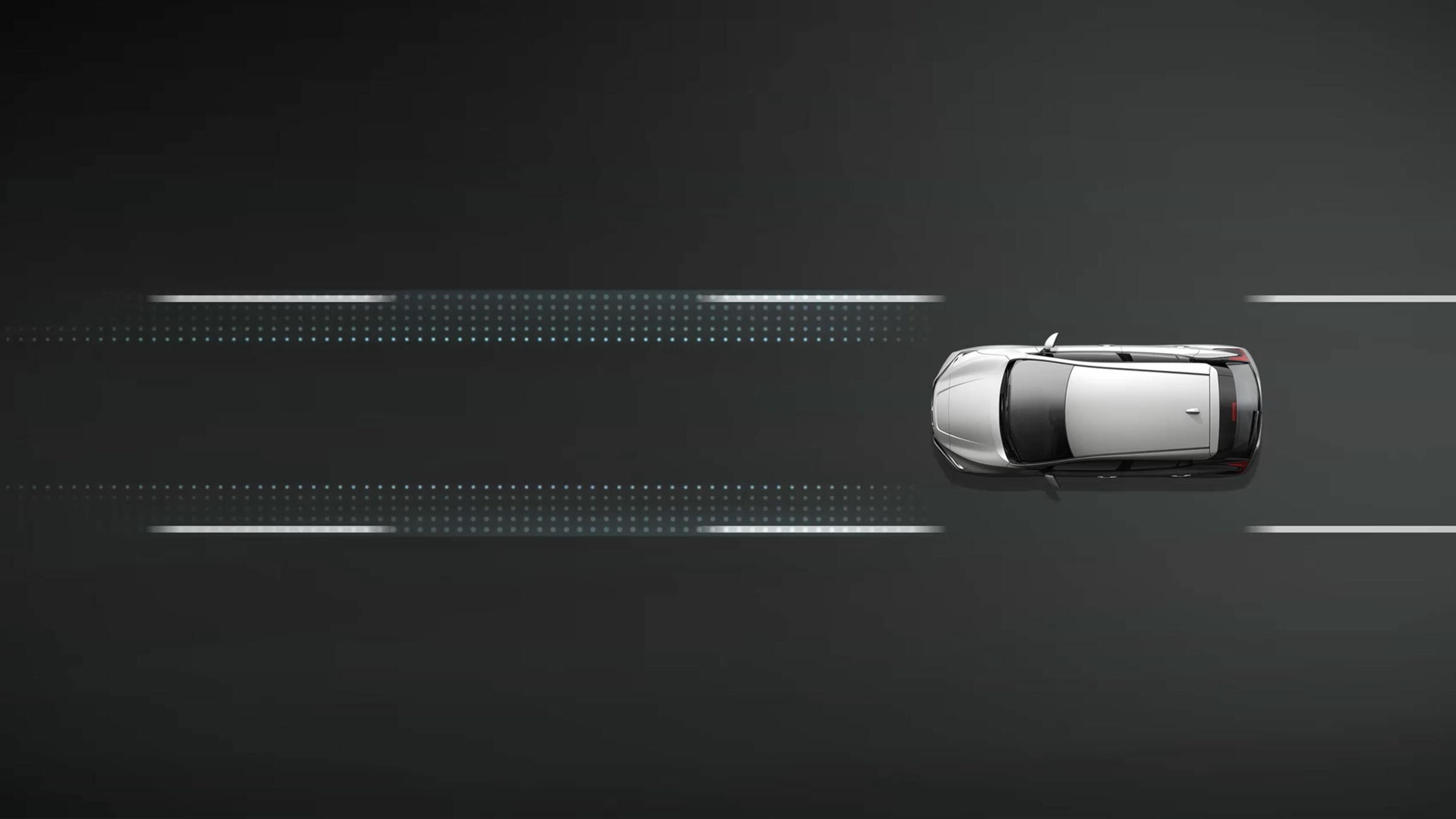 Intelligent forward collision warning illustration